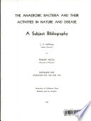 The Anaerobic Bacteria book