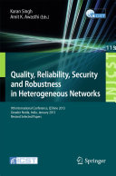 download ebook quality, reliability, security and robustness in heterogeneous networks pdf epub