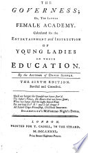 The Governess; Or, The Little Female Academy ... By The Author Of David Simple [i.e. Sarah Fielding]. : ...
