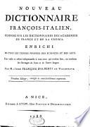 Nouveau dictionnaire fran  ais italien et italien fran  ais