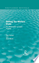Selling The Welfare State book