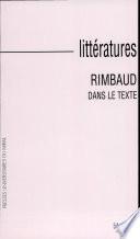 Rimbaud dans le texte