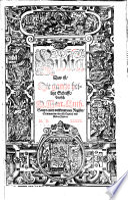 Biblia  das ist die gantze heilige Schrifft Teutsch  Martin Luther
