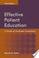 illustration du livre Effective Patient Education