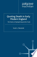 Quoting Death in Early Modern England