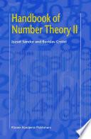 Handbook Of Number Theory Ii book