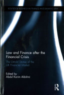 Law and finance after the financial crisis