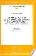 Un ami savoyard du cardinal Bessarion  Guillaume Fichet