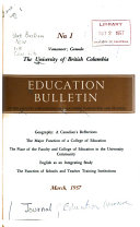 Education Bulletin of the Faculty and College of Education