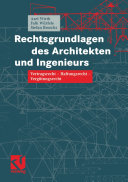 Rechtsgrundlagen des Architekten und Ingenieurs