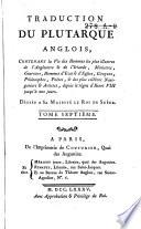 Traduction de Plutarque anglois