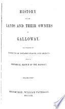 History of the Lands and Their Owners in Galloway