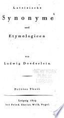 Lateinische Synonyme und Etymologieen