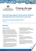 Early Learning Programs That Promote Children S Developmental And Educational Outcomes