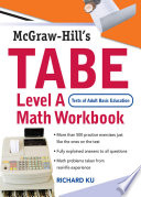 TABE  Test of Adult Basic Education  Level A Math Workbook
