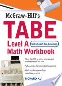 TABE  Test of Adult Basic Education  Level A Math Workbook
