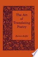 Art of Translating Poetry