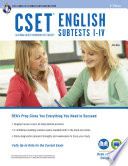 CSET English Subtests I-IV Book + Online