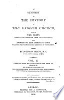 A Summary of the History of the English Church, and of the Sects which Have Departed from Its Communion