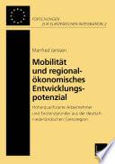 Mobilität und regionalökonomisches Entwicklungspotenzial