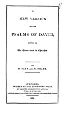 download ebook a new version of the psalms of david pdf epub