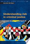 Understanding Risk in Criminal Justice