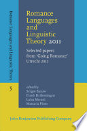 Romance Languages And Linguistic Theory 2011
