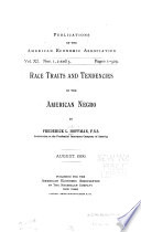 Race Traits and Tendencies of the American Negro Book PDF