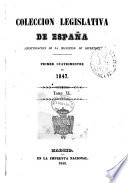 Coleccion Legislativa de Espana 1847