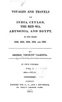 download ebook voyages and travels to india, ceylon, the red sea, abyssinia, and egypt pdf epub