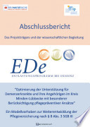 Abschlussbericht Entlastungsprogramm bei Demenz     EDe
