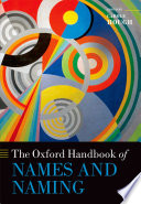 The Oxford Handbook Of Names And Naming book