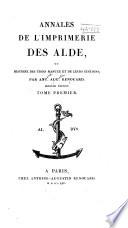 ditions d Alde Manuce  1494 1515  Andr   Manuce  1494 1515  Andr   d Asola  1516 29  Paul Manuce  1533 58