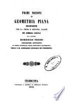 Prime nozioni di geometria piana