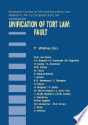 Unification of Tort Law: Fault