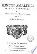 Principj analitici delle matematiche di Annibale Giordano, e Carlo Laubberg