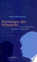 Poetologie des Erinnerns