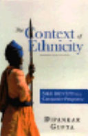 The Context of Ethnicity Book PDF