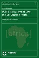 Public Procurement Law in Sub Saharan Africa