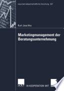 Marketingmanagement der Beratungsunternehmung