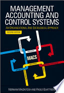 Management Accounting and Control Systems