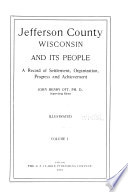 Jefferson County  Wisconsin and Its People