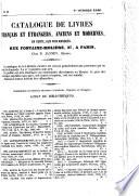 Catalogue n° 2 de livres français et étrangers, anciens et modernes