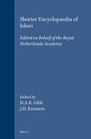 Shorter Encyclopaedia of Islam