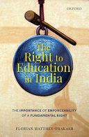Right to education in India : the importance of enforceability of a fundamental right document cover