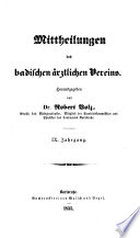 Mitteilungen des Badischen Ärztlichen Vereins
