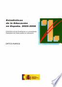 Estadísticas de la educación en España. 2005-2006. Datos avance
