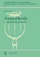 Anaesthesie  historisch gesehen