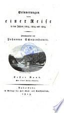 Erinnerungen von einer Reise in den Jahren 1803  1804 und 1805