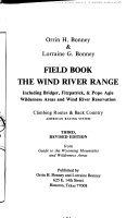 Field Book  the Wind River Range